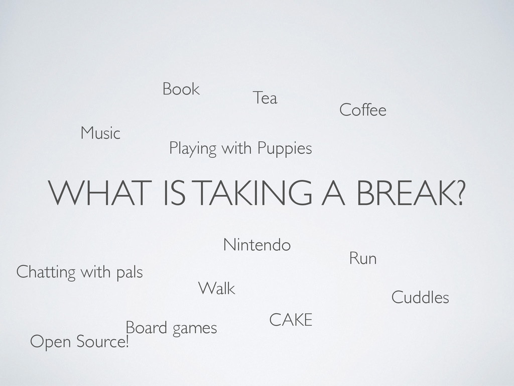 WHAT IS TAKING A BREAK? Walk Run Coffee Book Ch...