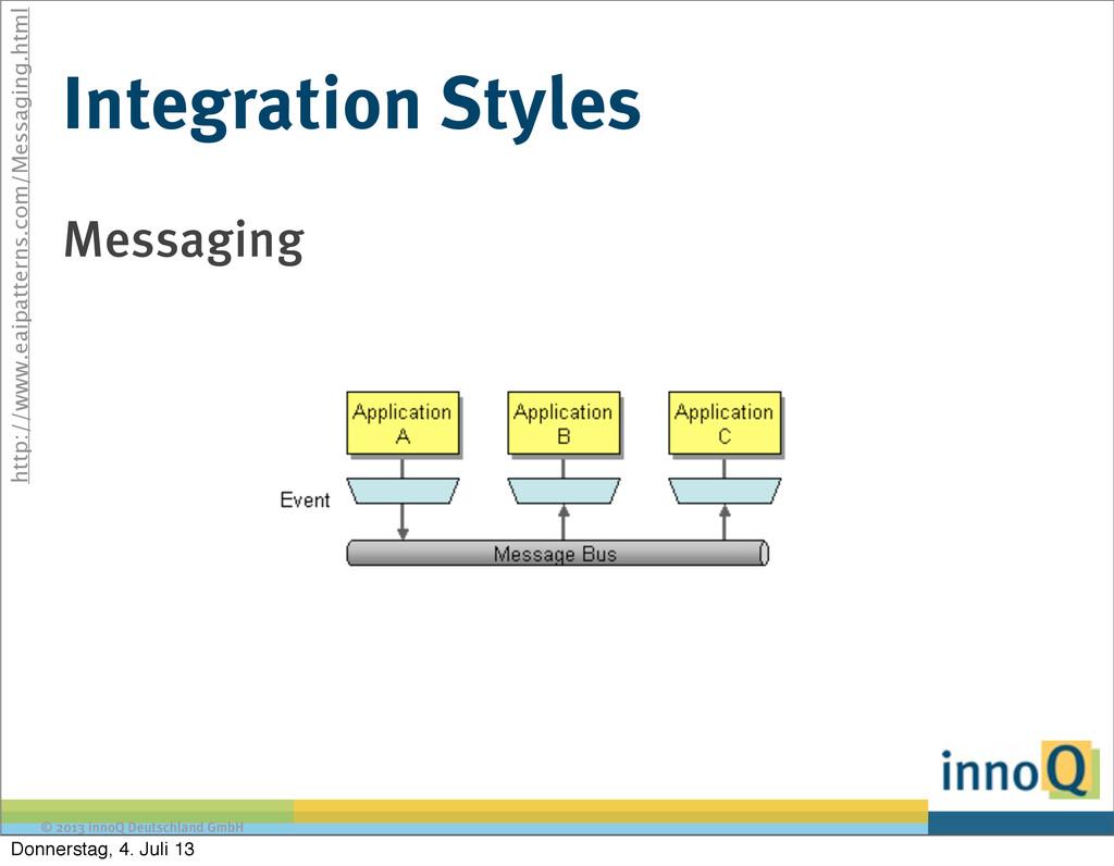 © 2013 innoQ Deutschland GmbH Integration Style...