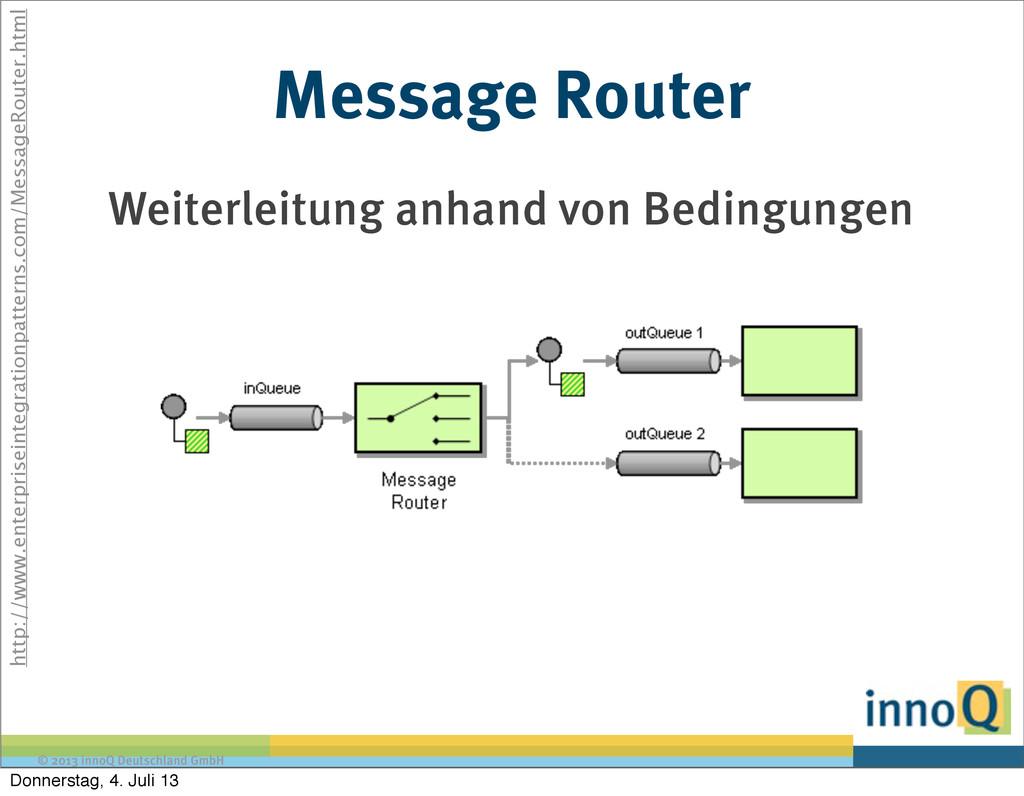 © 2013 innoQ Deutschland GmbH Message Router We...