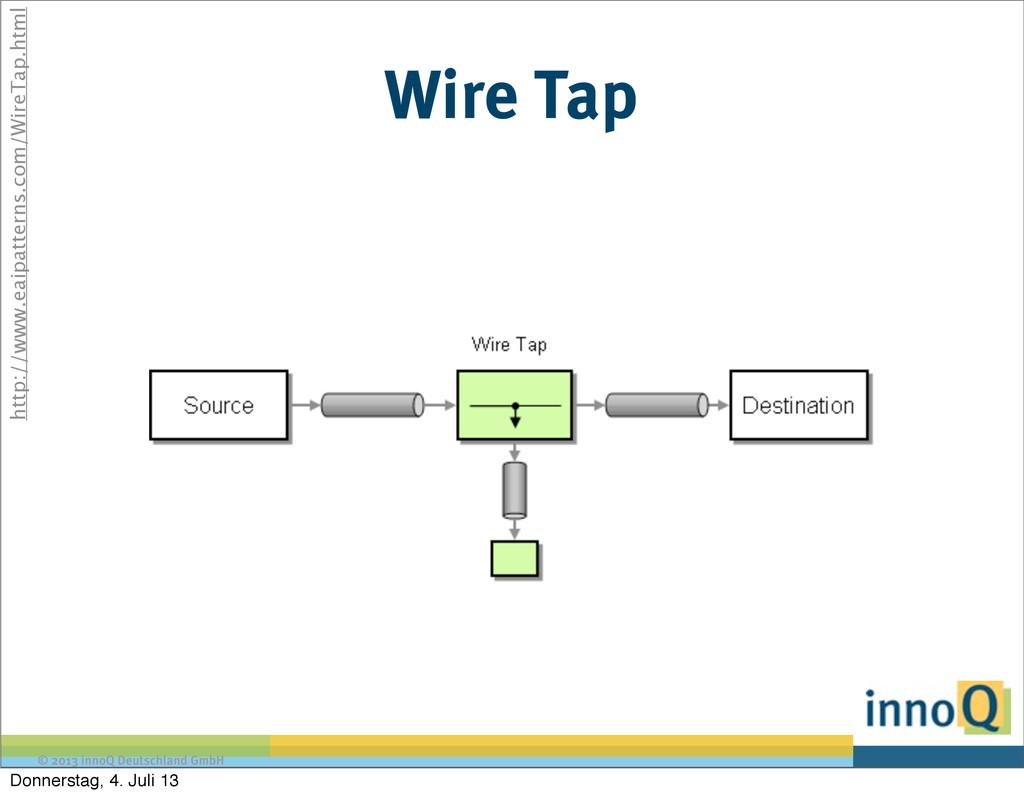© 2013 innoQ Deutschland GmbH Wire Tap http://w...