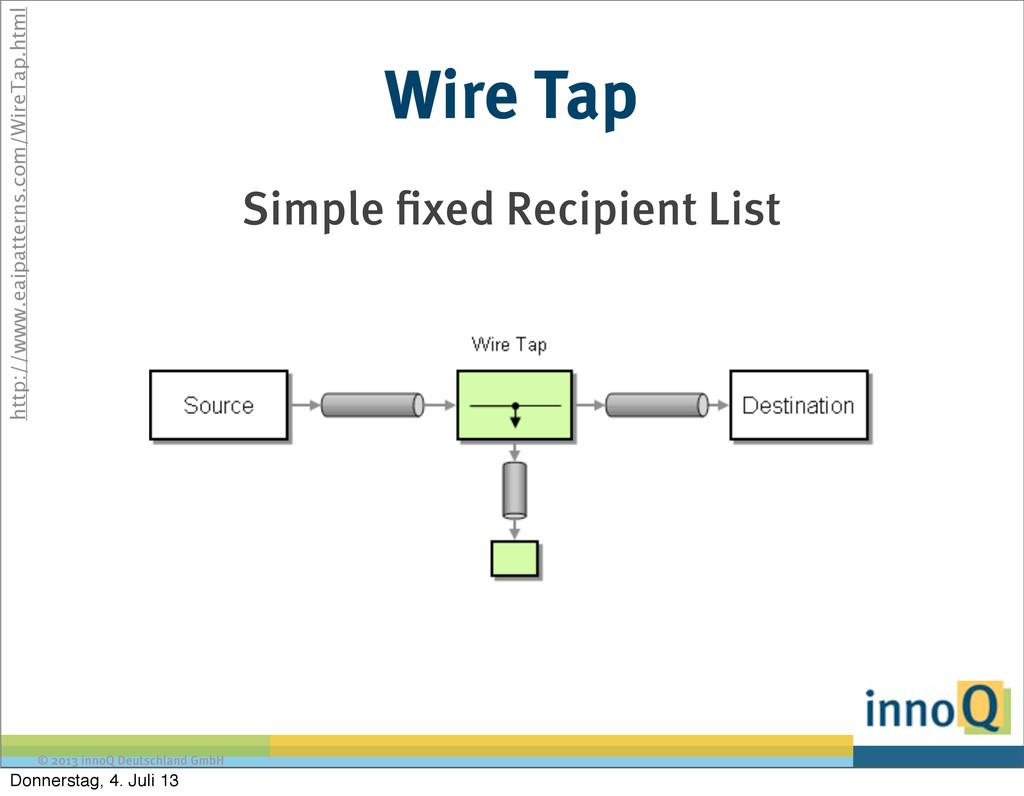 © 2013 innoQ Deutschland GmbH Wire Tap Simple x...