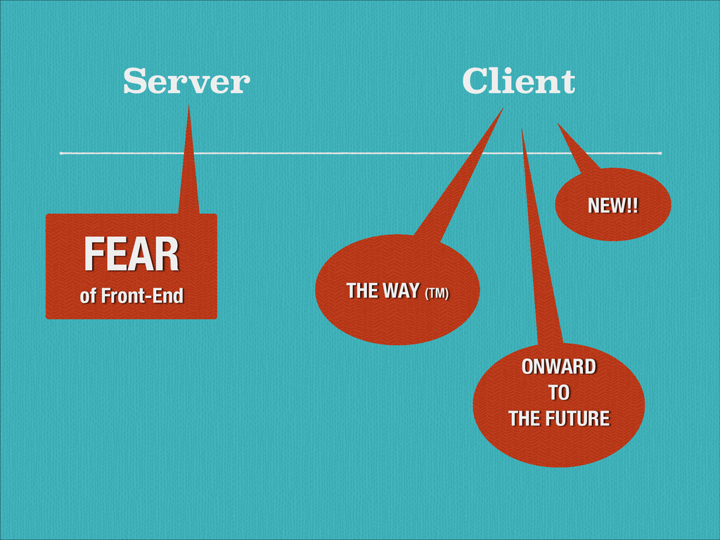 Server Client FEAR of Front-End NEW!! THE WAY (...