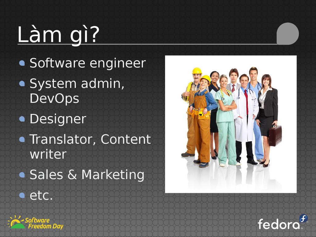 Software engineer System admin, DevOps Designer...