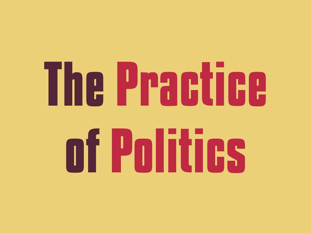 The Practice of Politics