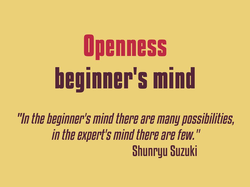 "Openness beginner's mind ""In the beginner's min..."