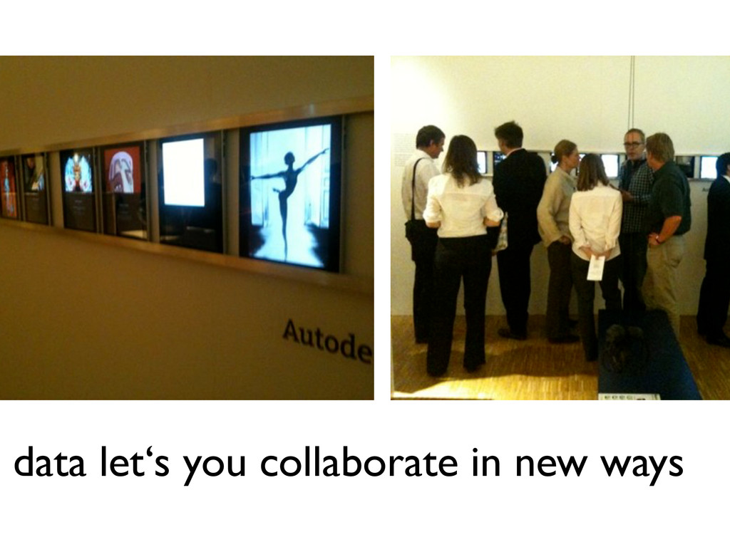 data let's you collaborate in new ways