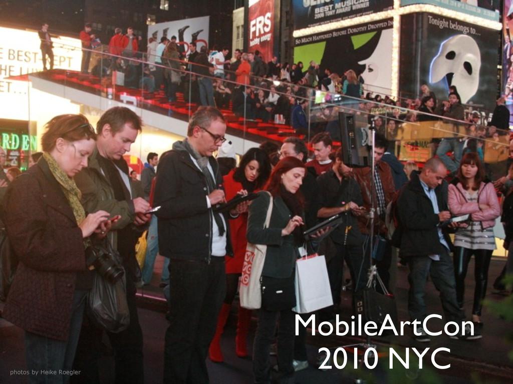 MobileArtCon 2010 NYC photos by Heike Roegler
