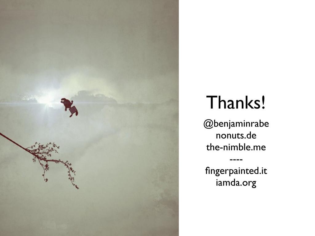 @benjaminrabe nonuts.de the-nimble.me ---- finge...
