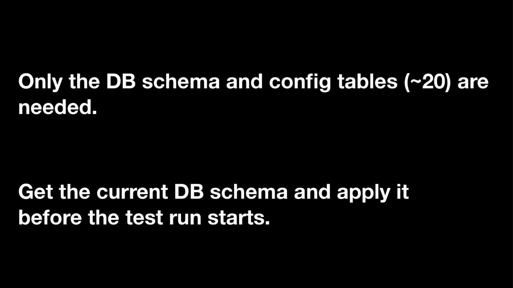 Get the current DB schema and apply it before t...