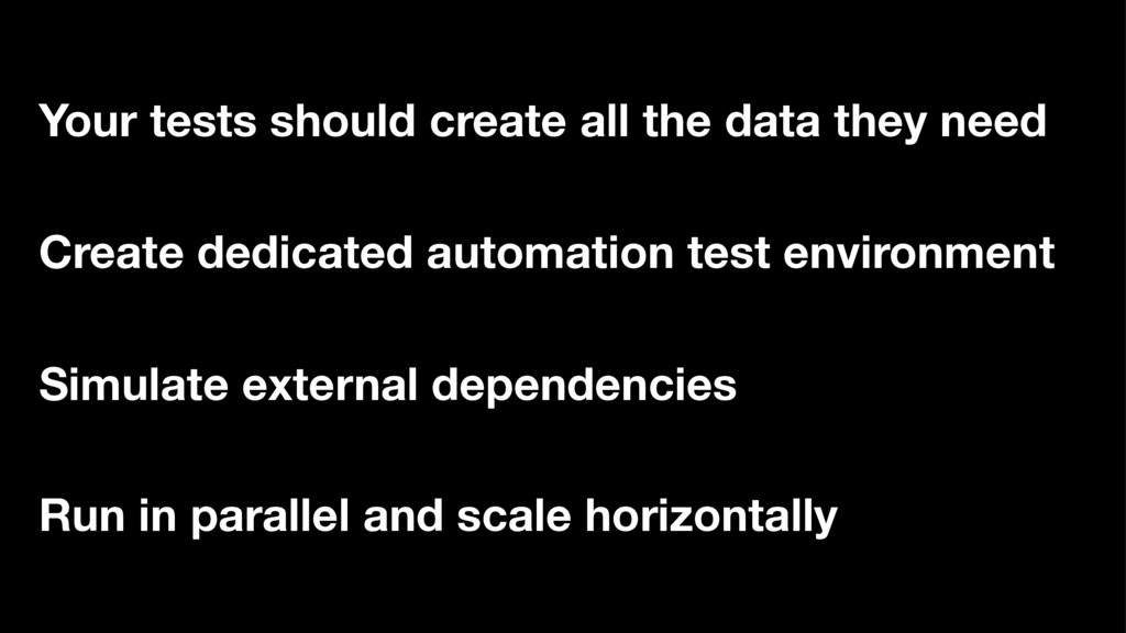 Create dedicated automation test environment Si...