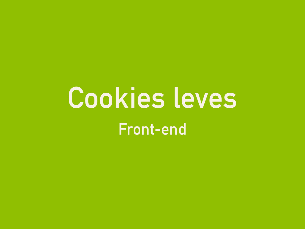 Cookies leves Front-end