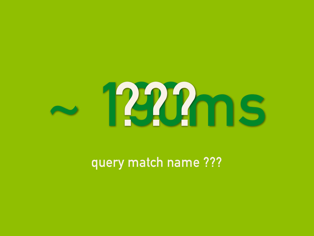 query match name ??? ~ 190ms ???
