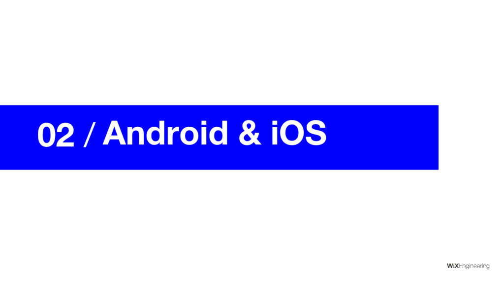 02 / Android & iOS