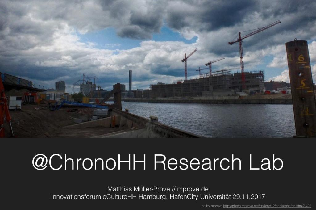 @ChronoHH Research Lab Matthias Müller-Prove //...