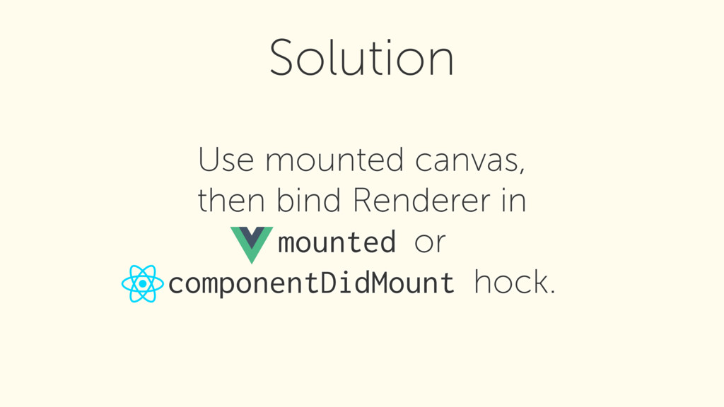 Use mounted canvas, then bind Renderer in mou...