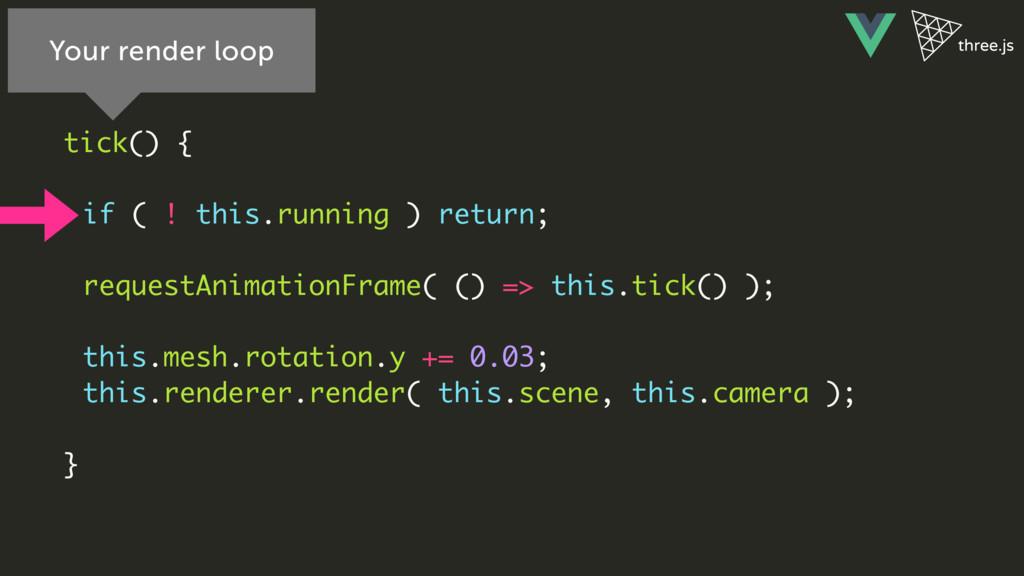 tick() { if ( ! this.running ) return; requestA...