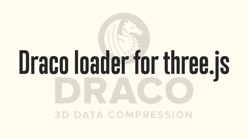 Draco loader for three.js