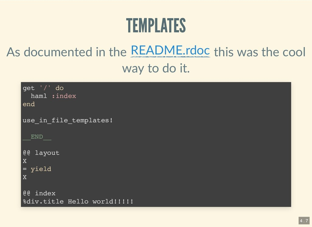 TEMPLATES TEMPLATES As documented in the this w...