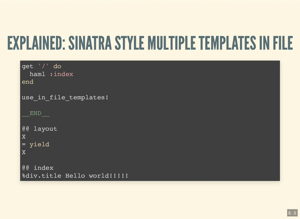 EXPLAINED: SINATRA STYLE MULTIPLE TEMPLATES IN ...