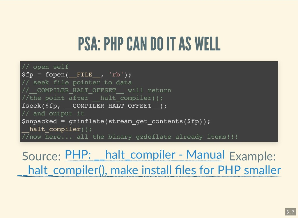 PSA: PHP CAN DO IT AS WELL PSA: PHP CAN DO IT A...