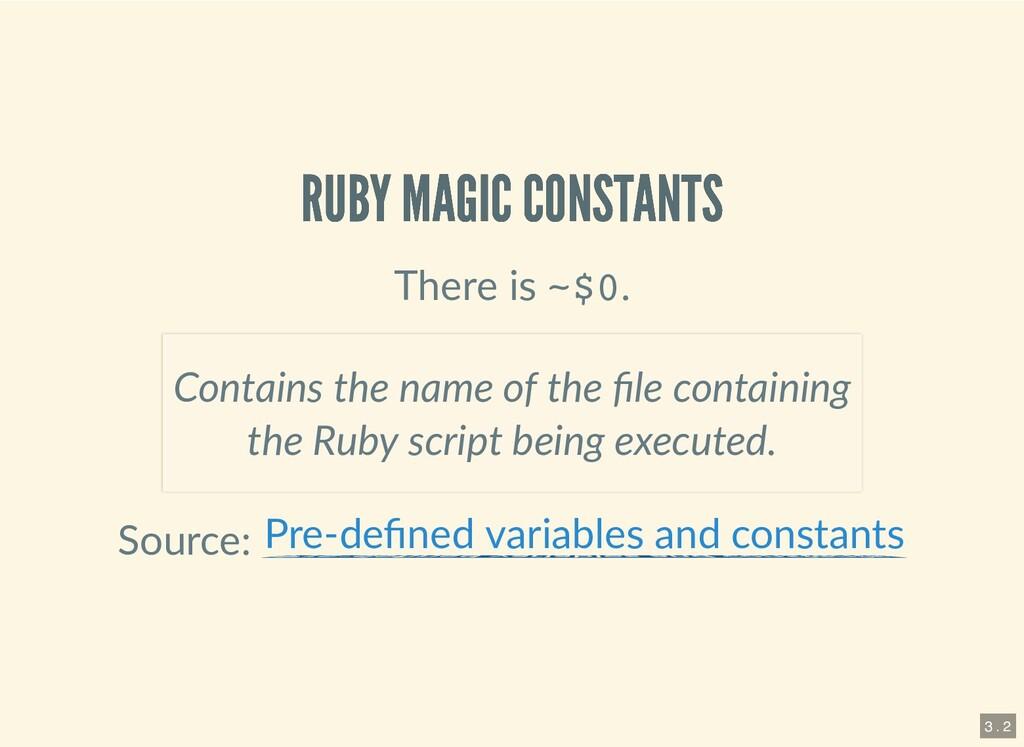 RUBY MAGIC CONSTANTS RUBY MAGIC CONSTANTS There...