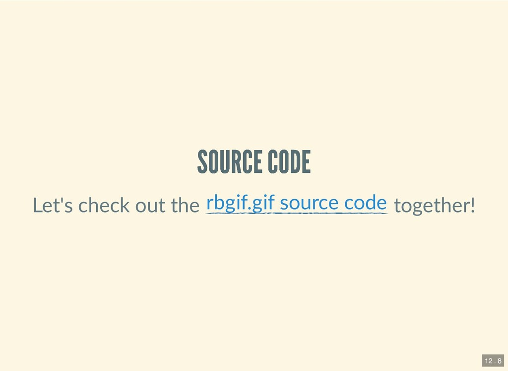 SOURCE CODE SOURCE CODE Let's check out the tog...