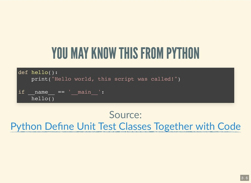 YOU MAY KNOW THIS FROM PYTHON YOU MAY KNOW THIS...