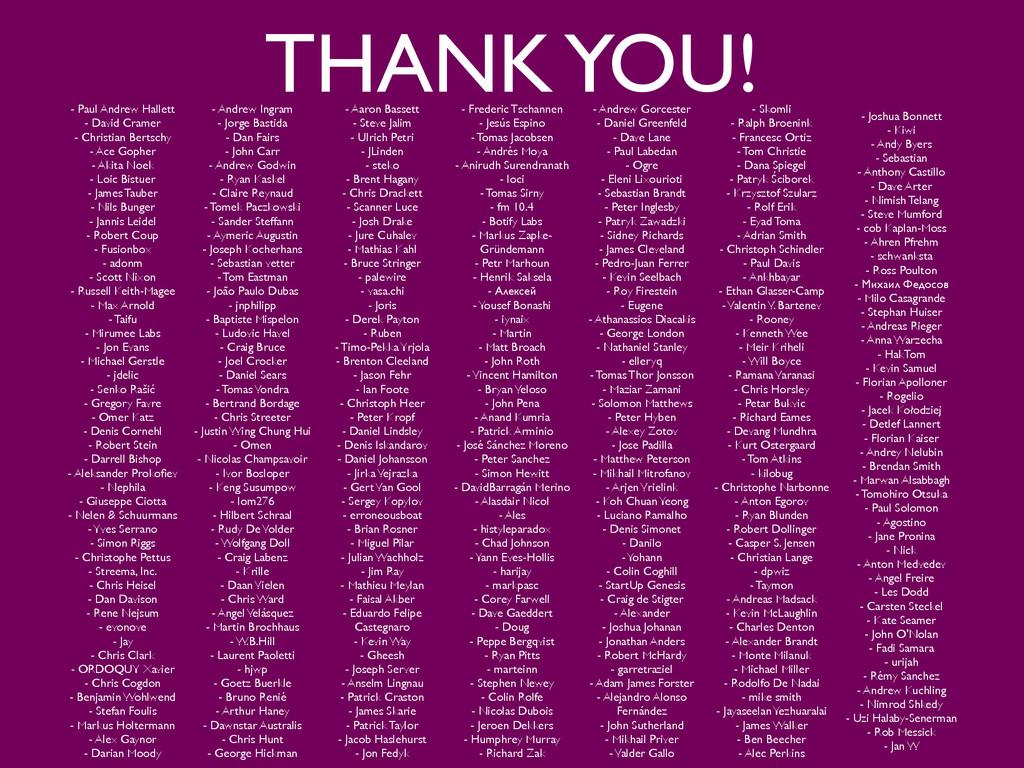 THANK YOU! - Paul Andrew Hallett  - David Cra...