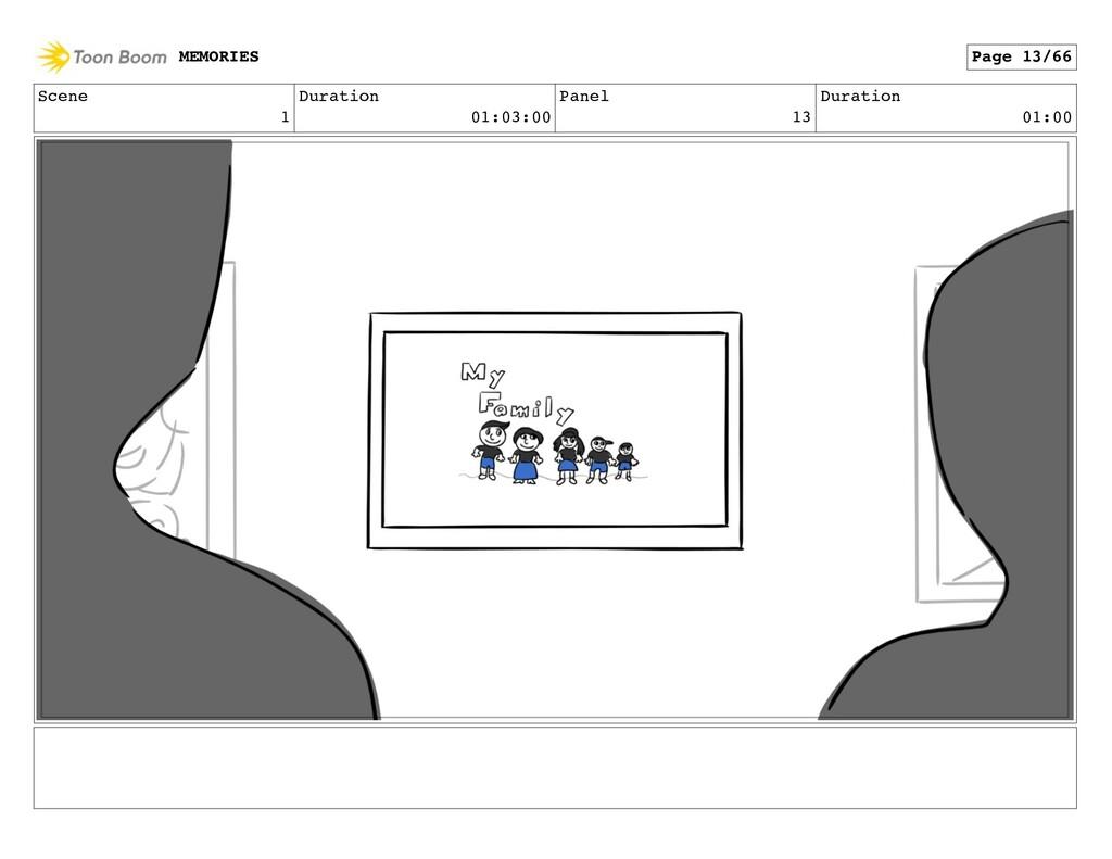 Scene 1 Duration 01:03:00 Panel 13 Duration 01:...