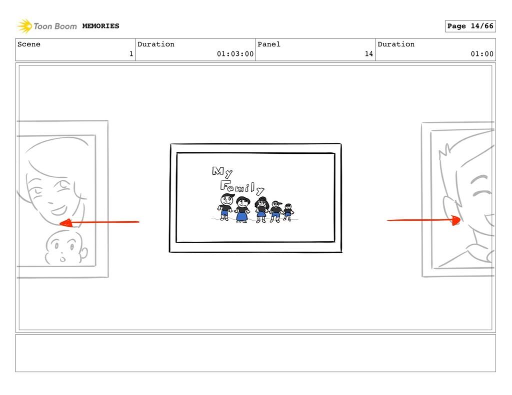 Scene 1 Duration 01:03:00 Panel 14 Duration 01:...
