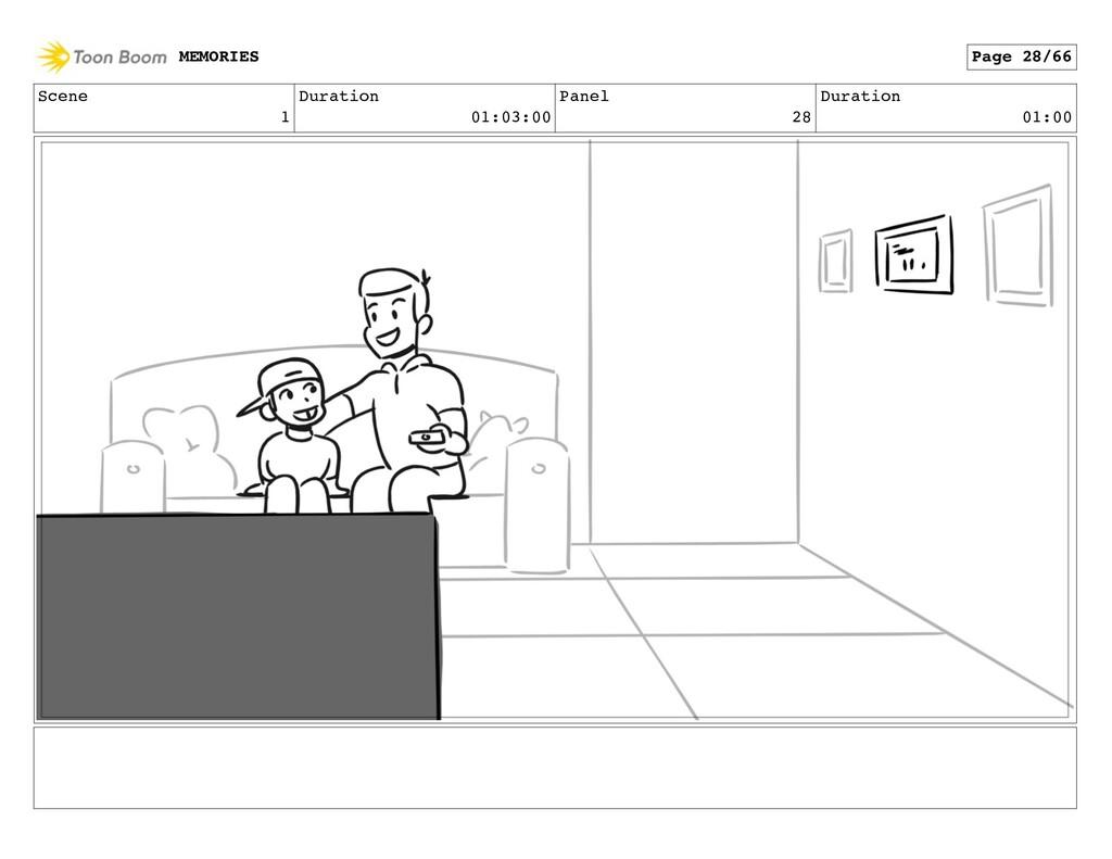 Scene 1 Duration 01:03:00 Panel 28 Duration 01:...