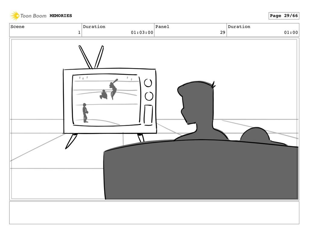 Scene 1 Duration 01:03:00 Panel 29 Duration 01:...