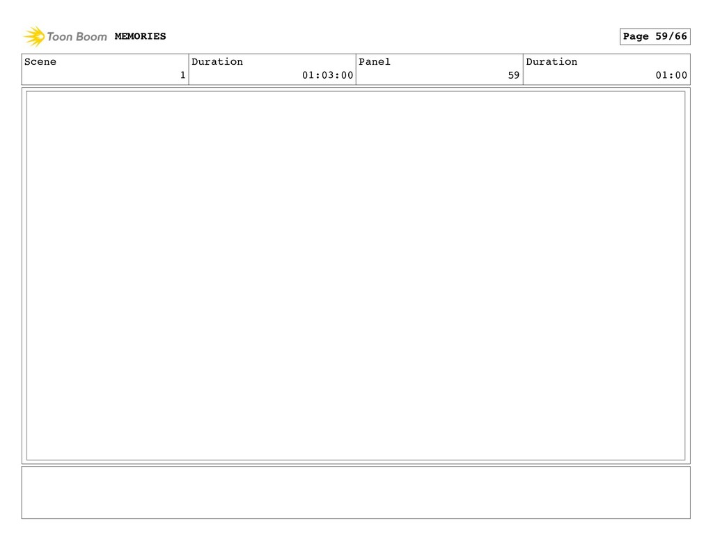 Scene 1 Duration 01:03:00 Panel 59 Duration 01:...