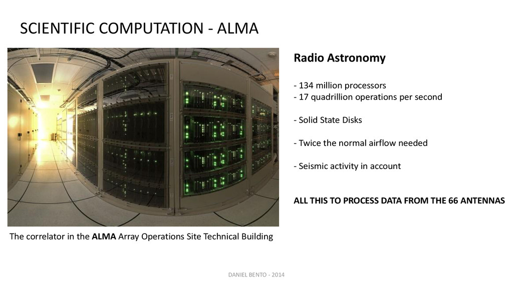 The correlator in the ALMA Array Operations Sit...