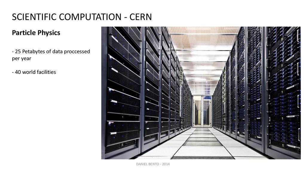 - 25 Petabytes of data proccessed per year - 40...