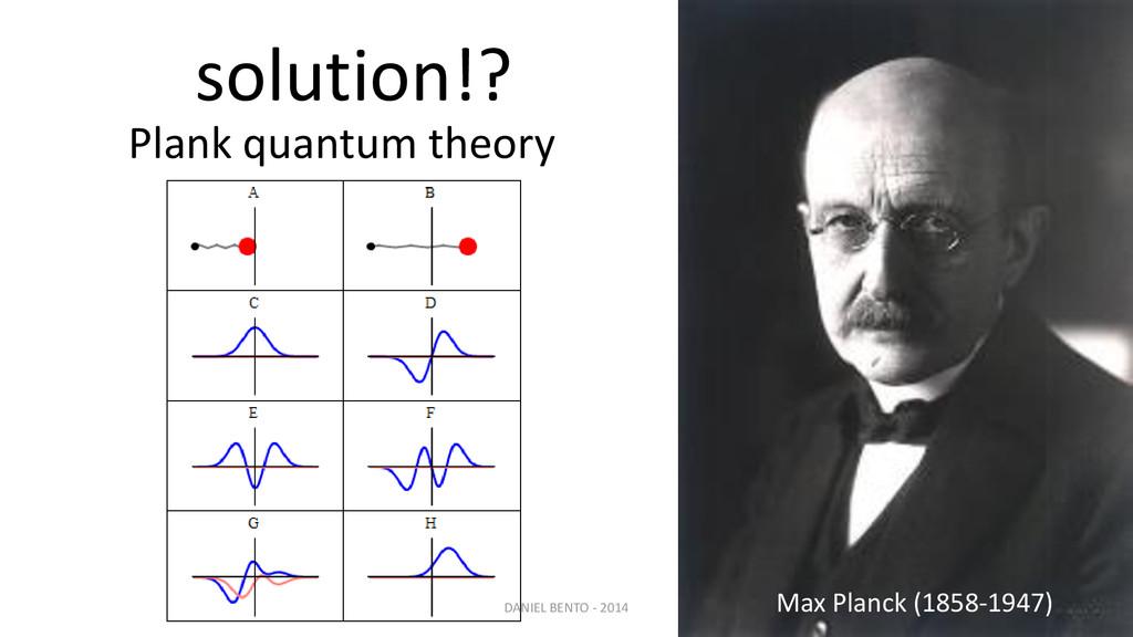 solution!? Plank quantum theory Max Planck (185...