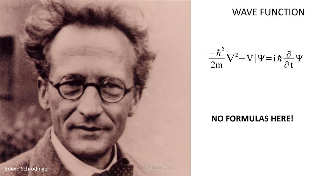 Edwin Schrödinger NO FORMULAS HERE! WAVE FUNCTI...