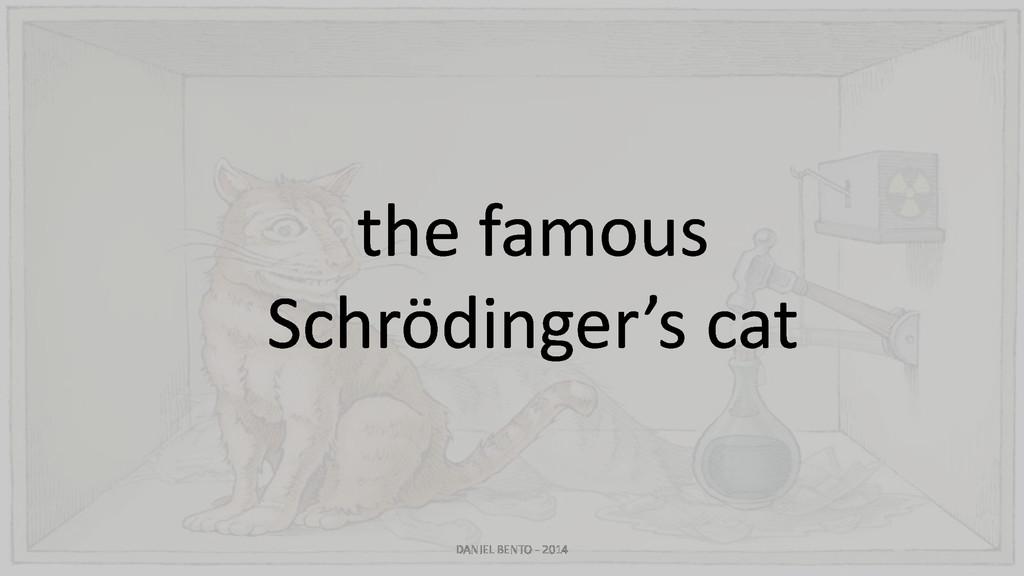 the famous Schrödinger's cat DANIEL BENTO - 2014