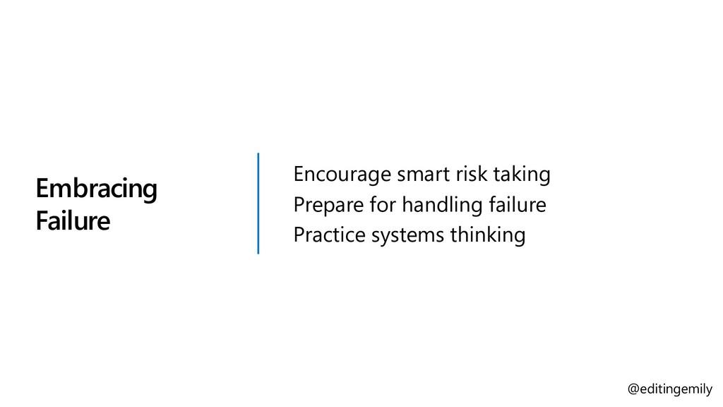 Embracing Failure Encourage smart risk taking P...