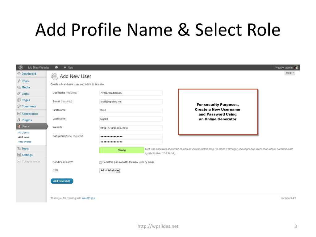Add Profile Name & Select Role 3 http://wpslide...