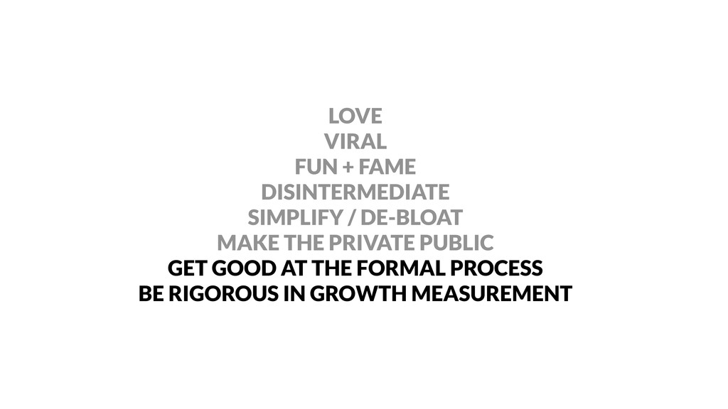 LOVE VIRAL FUN + FAME DISINTERMEDIATE SIMPLIFY ...