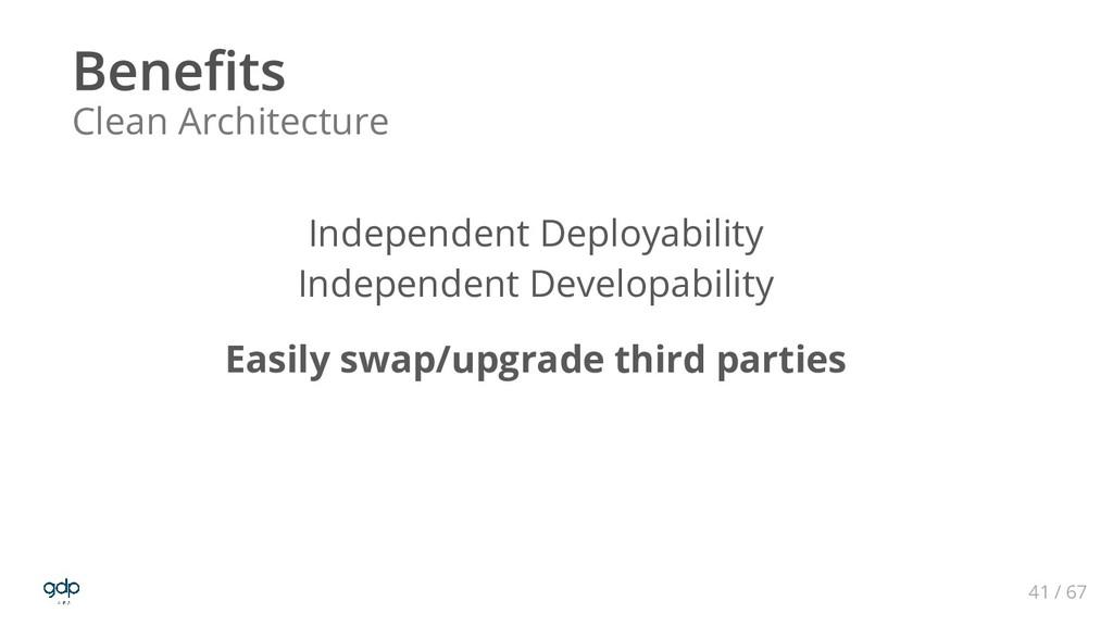 41 / 67 Clean Architecture Independent Deployab...