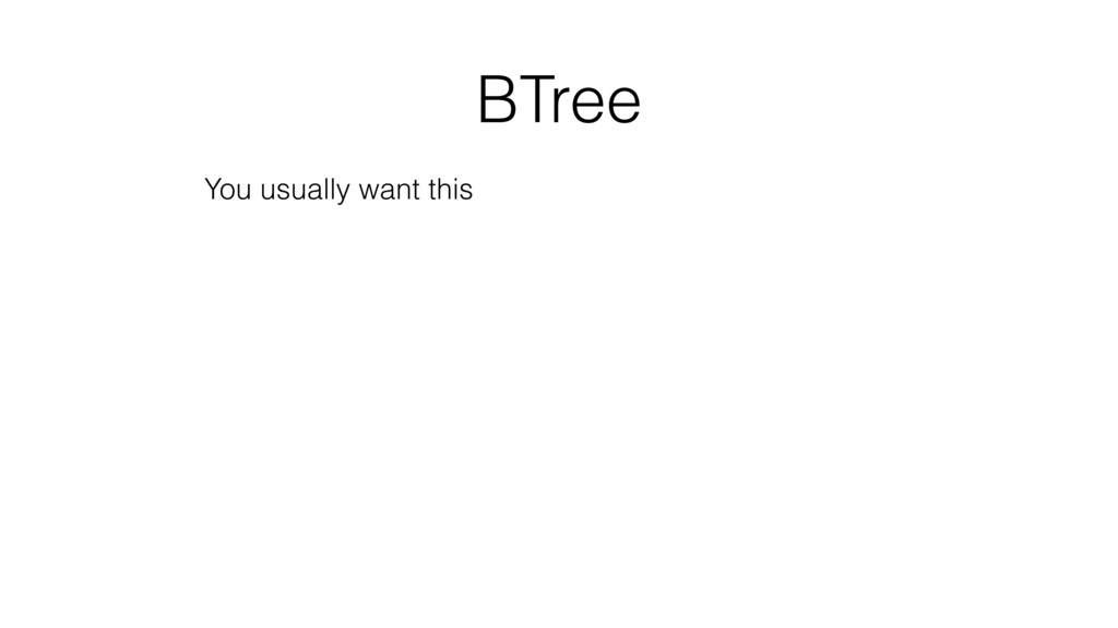 BTree You usually want this