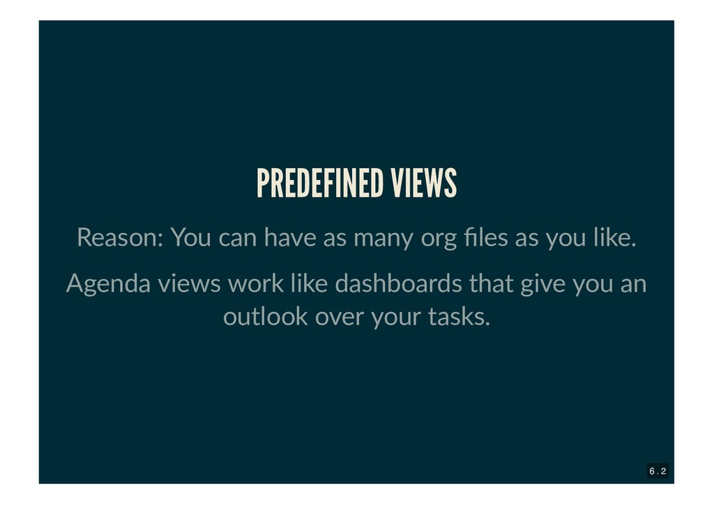 PREDEFINED VIEWS PREDEFINED VIEWS Reason: You c...
