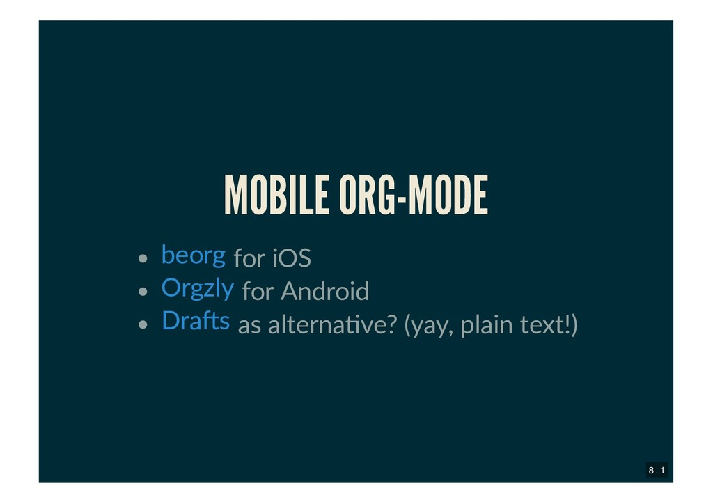 MOBILE ORG-MODE MOBILE ORG-MODE for iOS for And...