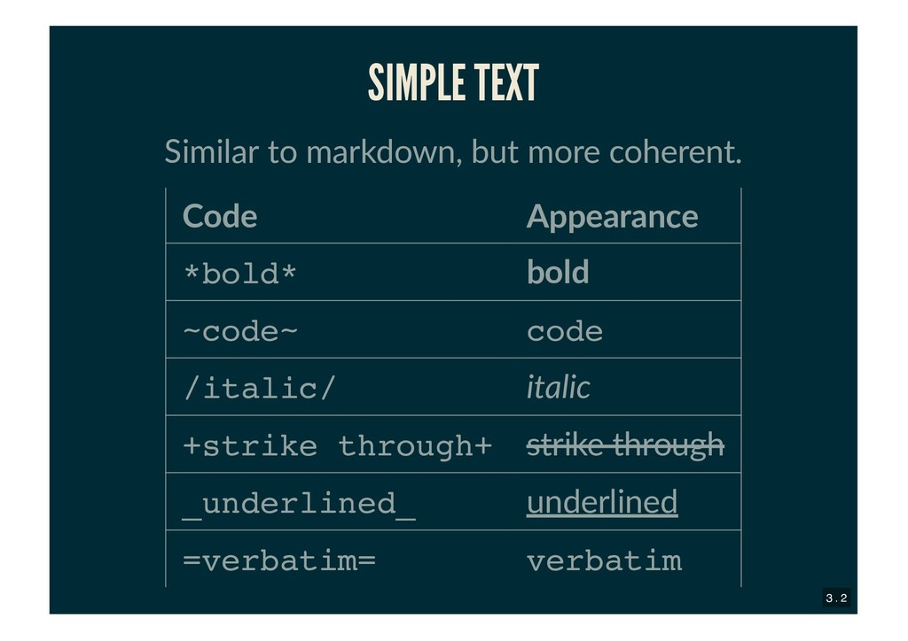 SIMPLE TEXT SIMPLE TEXT Similar to markdown, bu...