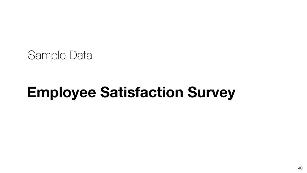 40 Sample Data Employee Satisfaction Survey