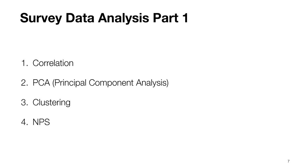 7 1. Correlation 2. PCA (Principal Component An...