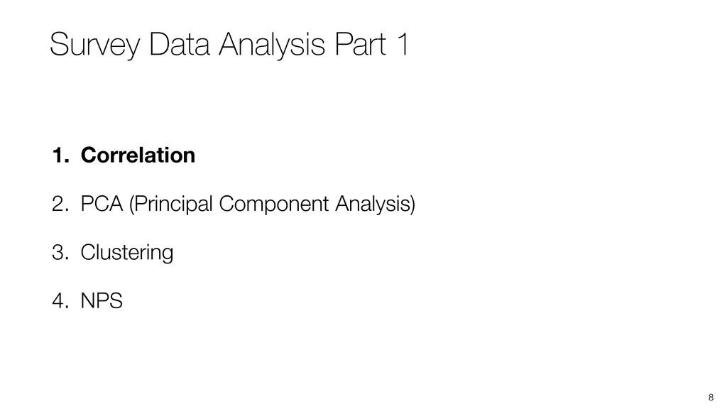 8 1. Correlation 2. PCA (Principal Component An...