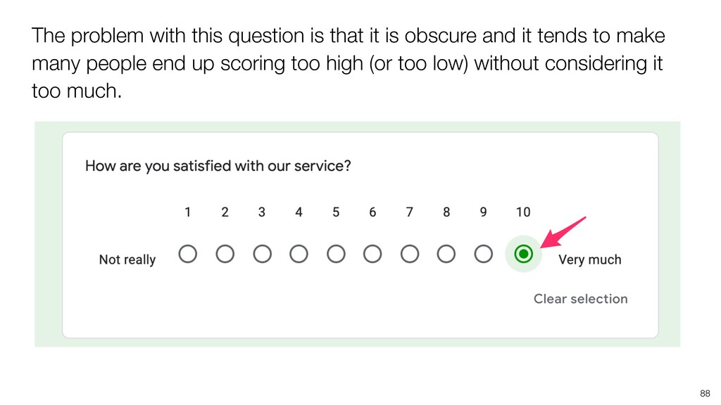 88 The problem with this question is that it is...